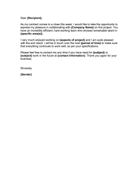 Goodbye Letter To Employee From Employer